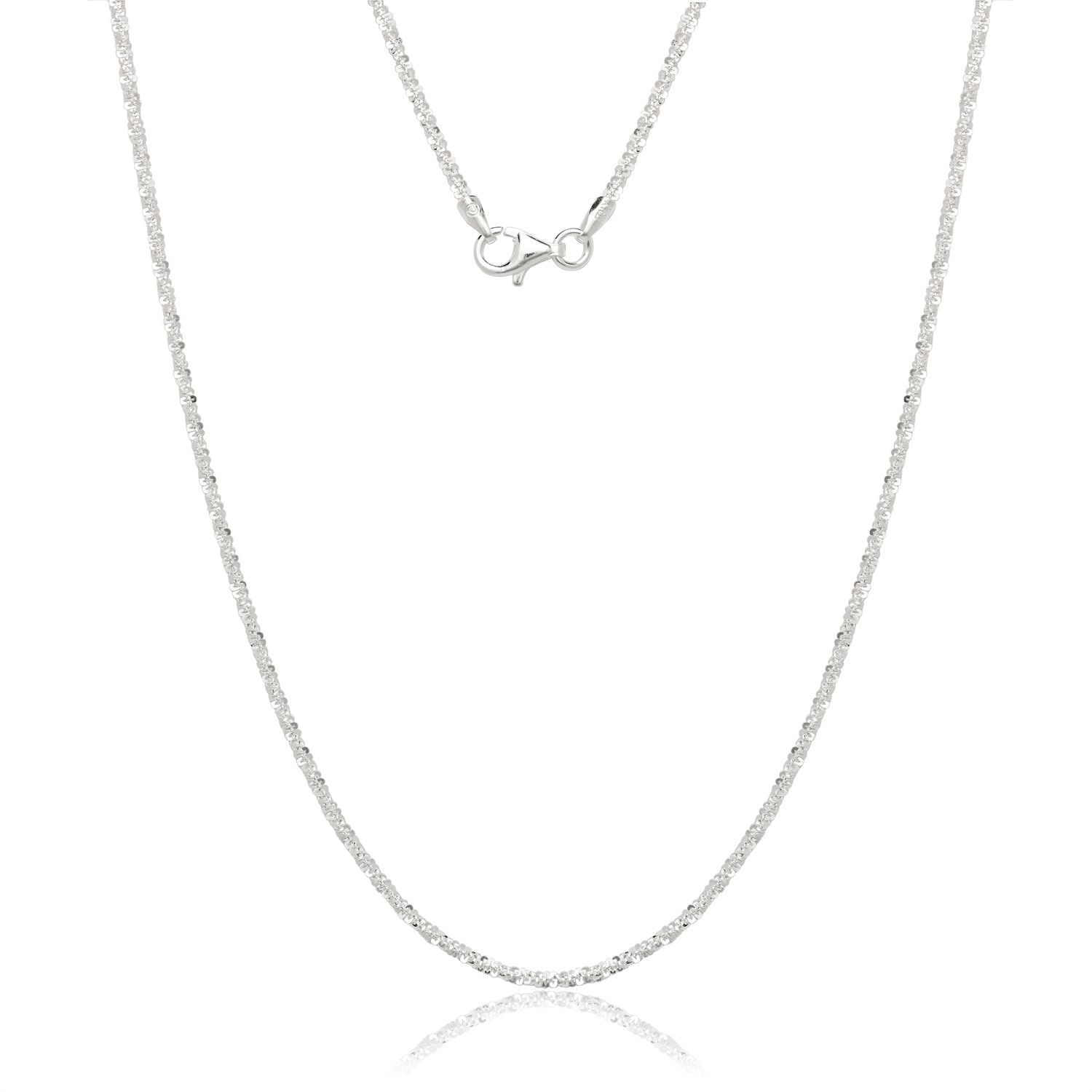 Italian Sterling Silver Margarita Chain Necklace (18-inch...