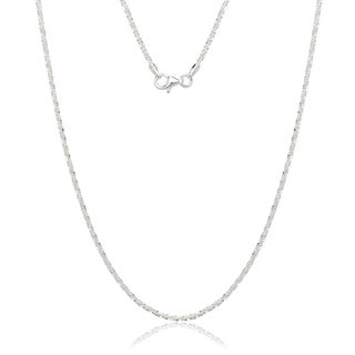 Italian Sterling Silver Margarita Chain Necklace
