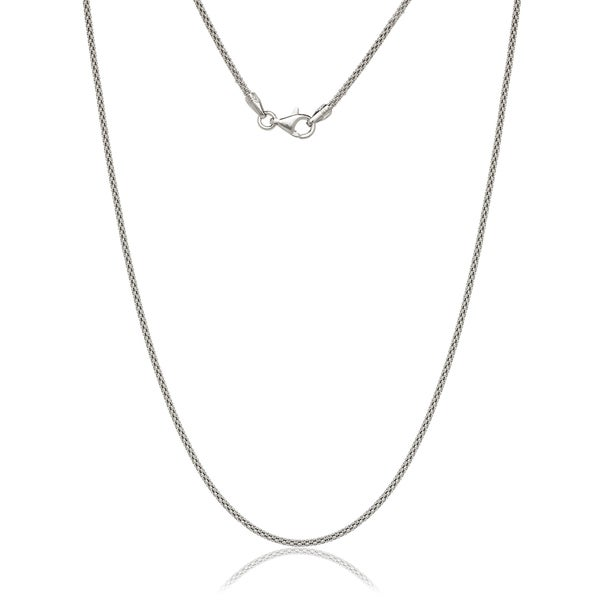 """STERLING SILVER ITALY POPCORN STYLE NECKLACE 16/"""" 4 mm"""