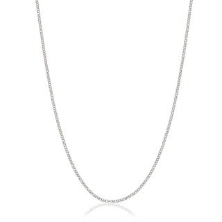 Italian Rhodium-plated Sterling Silver 1mm Rolo Chain (More options available)