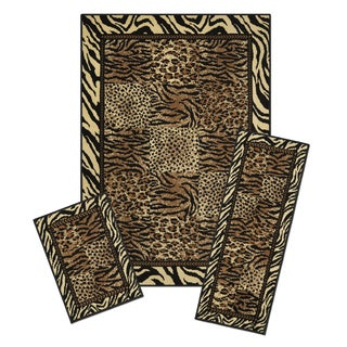 Capri 3-Piece Safari Area Rug Set