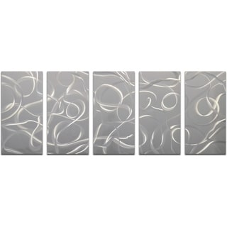 A Cacophony of Twirls 5-piece Handmade Modern Metal Wall Art