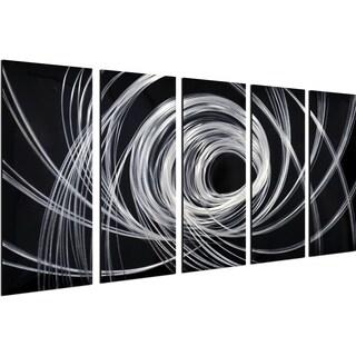 Opening Spirals 5-Piece Handmade Modern Metal Wall Art