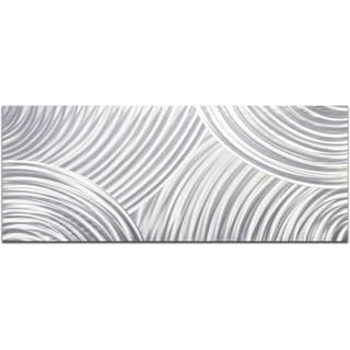 Whirling Pencil Grey Handmade Modern Metal Wall Art