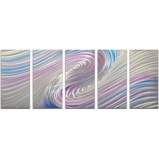 Rainbow Whirlpool 5-piece Handmade Modern Metal Wall Art