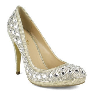 Celeste Jolin-01 Rhinestones Covered Women Dress Pump