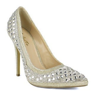 Celeste Tanya-03 Rhinestones Covered Women Dress Pump