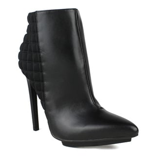 Fahrenheit Sammy-04 Checkered Back Pointed-toe Women's High Heel Booties