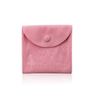 LMTS Girls 14k Goldplated Hot Pink Enamel Flowers Thin Bangle