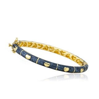 LMTS Girls 14k Goldplated Grey Enamel Bangle