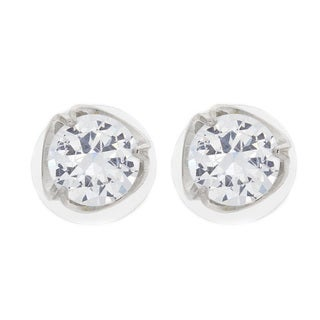 Nexte Jewelry Tri-Swoop Set Stud Solitaire Earrings