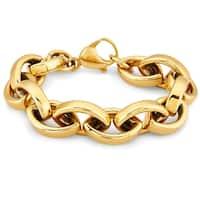 ELYA Stainless Steel Oval Link Chain Bracelet