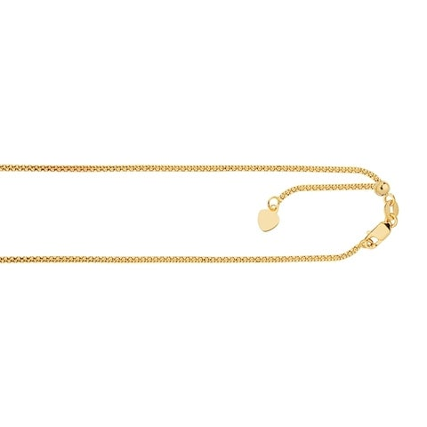 14k Gold 22-inch Popcorn Chain Necklace