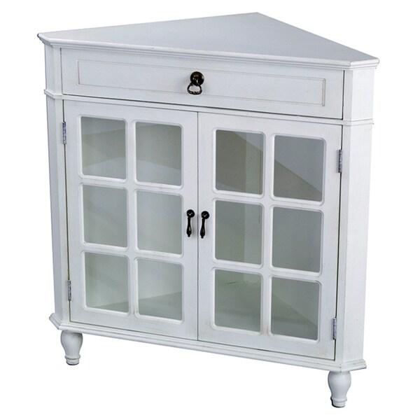 Heather Ann Glass Insert Double Door Single Drawer Wooden  : Heather Ann Wooden Corner Cabinet with Glass Insert 01fd7604 b359 4117 9ce0 3b065f38e3f5600 from www.overstock.com size 600 x 600 jpeg 24kB