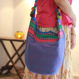Cotton 'Assam Collage' Shoulder Bag (India)