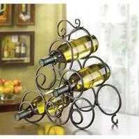 Stylish Wrought Iron 6-bottle Wine Rack