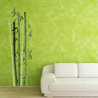 Bamboo Bushes Floral Vinyl Wall Art