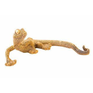 Gold Electroplated Lizard Tabletop Decor