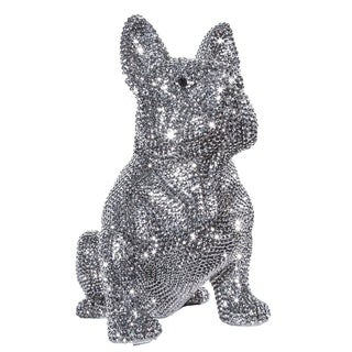 Rhinestone Encrusted French Bulldog Bank