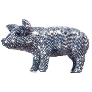 Rhinestone Encrusted 12-inch Long Piggy Bank