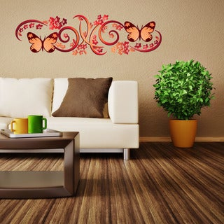 Gorgeous Butterflies Floral Vinyl Wall Art