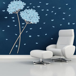 Blowball Leaves - Floral Wall Decal, Sticker, Mural Vinyl Art Home Decor