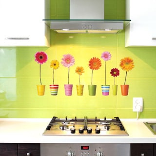 Gerbera Potts Floral Vinyl Wall Art