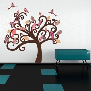 Vintage Tree - floral wall decal, sticker, mural vinyl art home decor