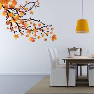 Spring Leaves Floral Vinyl Wall Art