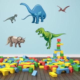 Colorful Dino Set Boy Nursery Vinyl Wall Art