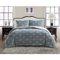 VCNY Jaquard Damask Plush 3-piece Comforter Set