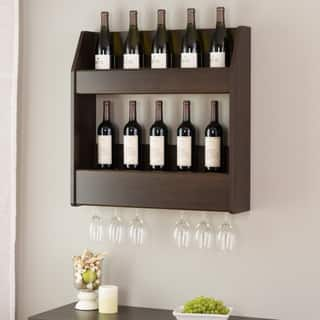 Everett Espresso Floating Wine and Liquor Rack|https://ak1.ostkcdn.com/images/products/10760815/P17813493.jpg?impolicy=medium