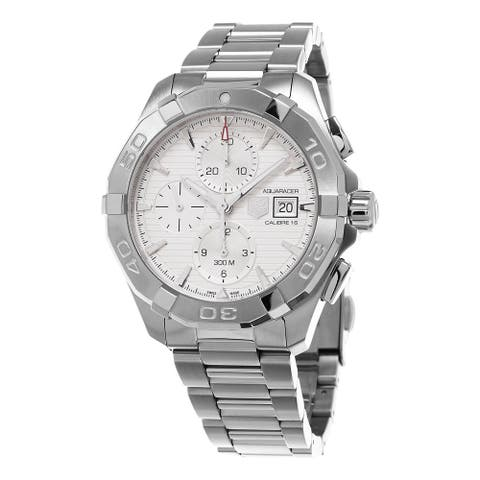 Tag Heuer Men's '300 Aquaracer' Silver Dial Stainless Steel Chronograph Swiss Automat