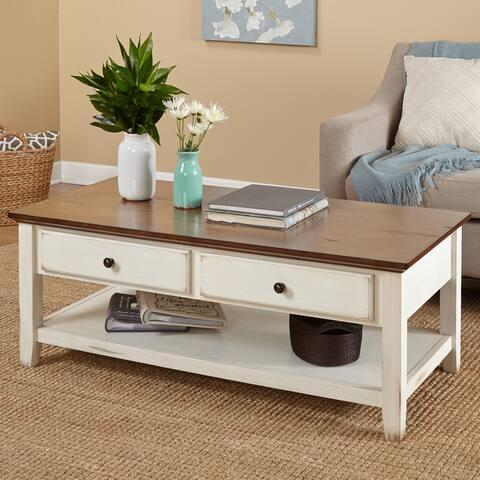 "Simple Living Charleston Coffee Table - 18.1""H x 47.6""W x 23.6""D"