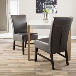 Hazelton Home Curtis Dining Chair In Leather (Set of 2)