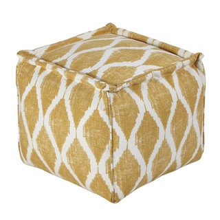 Signature Design by Ashley Bruce Yellow/White Pouf
