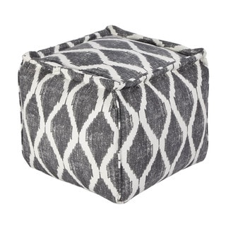 Signature Design by Ashley Bruce Gray/White Pouf