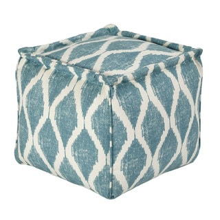 Signature Design by Ashley Bruce Teal/White Pouf