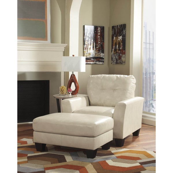 Signature Design By Ashley Paulie Durablend Taupe Ottoman Free Shipping Today 10760863
