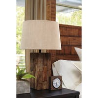 Signature Design by Ashley Selemah Light Brown Wood Table Lamp
