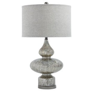 Signature Design by Ashley Subira Silver/Gun Metal Finish Glass Table Lamp