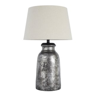Signature Design by Ashley Saleema Silver Finish Terracotta Table Lamp