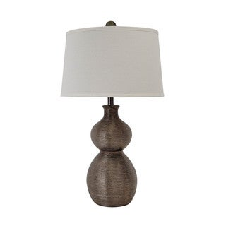 Signature Design by Ashley Savana Gunmetal Finish Poly Table Lamp