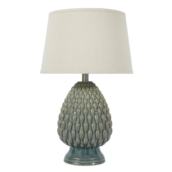 Signature Design by Ashley Saidee Teal Ceramic Table Lamp