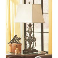 Sallee Gold Finish 34 Inch Metal Table Lamp