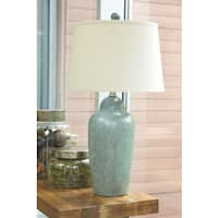Signature Design by Ashley Saher Green Ceramic Table Lamp
