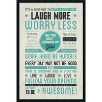 Framed Art Print Be Awesome 26 x 38-inch