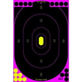 Birchwood Casey Shoot-N-C Pink 12-inchx18-inch Silhouette Target 5 Targets