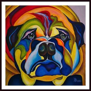 Debra Bucci 'Bull Dog Buddy' Framed Art