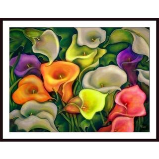 Debra Bucci 'Colorful Calla Lilies' Framed Art